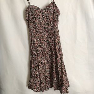Blush Floral Pattern Dress - Fitted on Waist - S